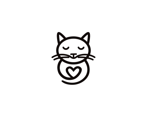 Cat Heart Png 492 400 Cat Logo Design Cat Icon Cat Tattoo Small