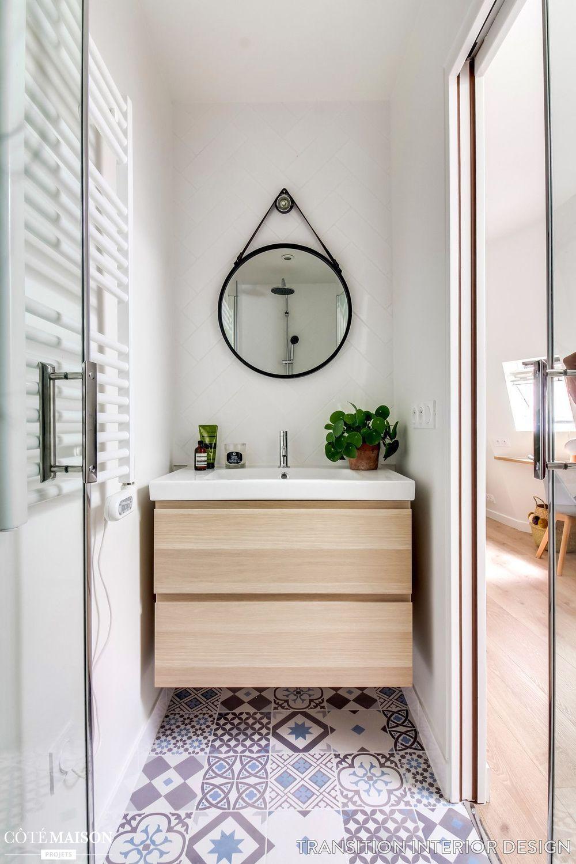 Superficie Minimum Salle De Bain salle de bain bois et blanc   petite salle de bain, salle de