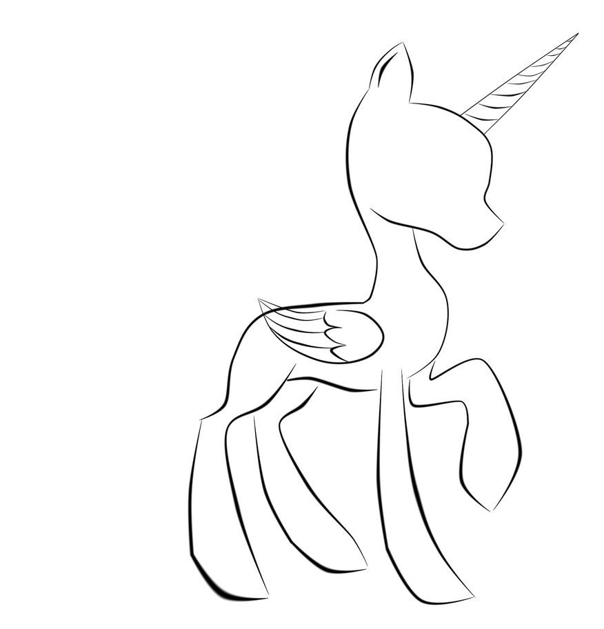 Mlp Base Alicorn Coloring Pages My Little Pony Coloring My Little Pony Drawing Pony Drawing