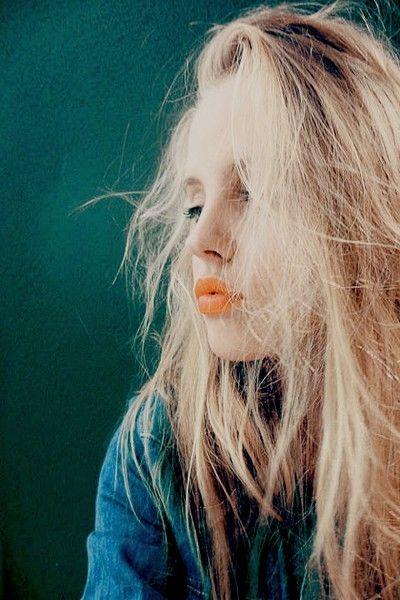 orange lipstick for fall