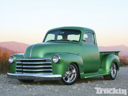 47 Chevy With Beauty Green Paint Job Chevy Trucks Vintage Trucks Classic Truck