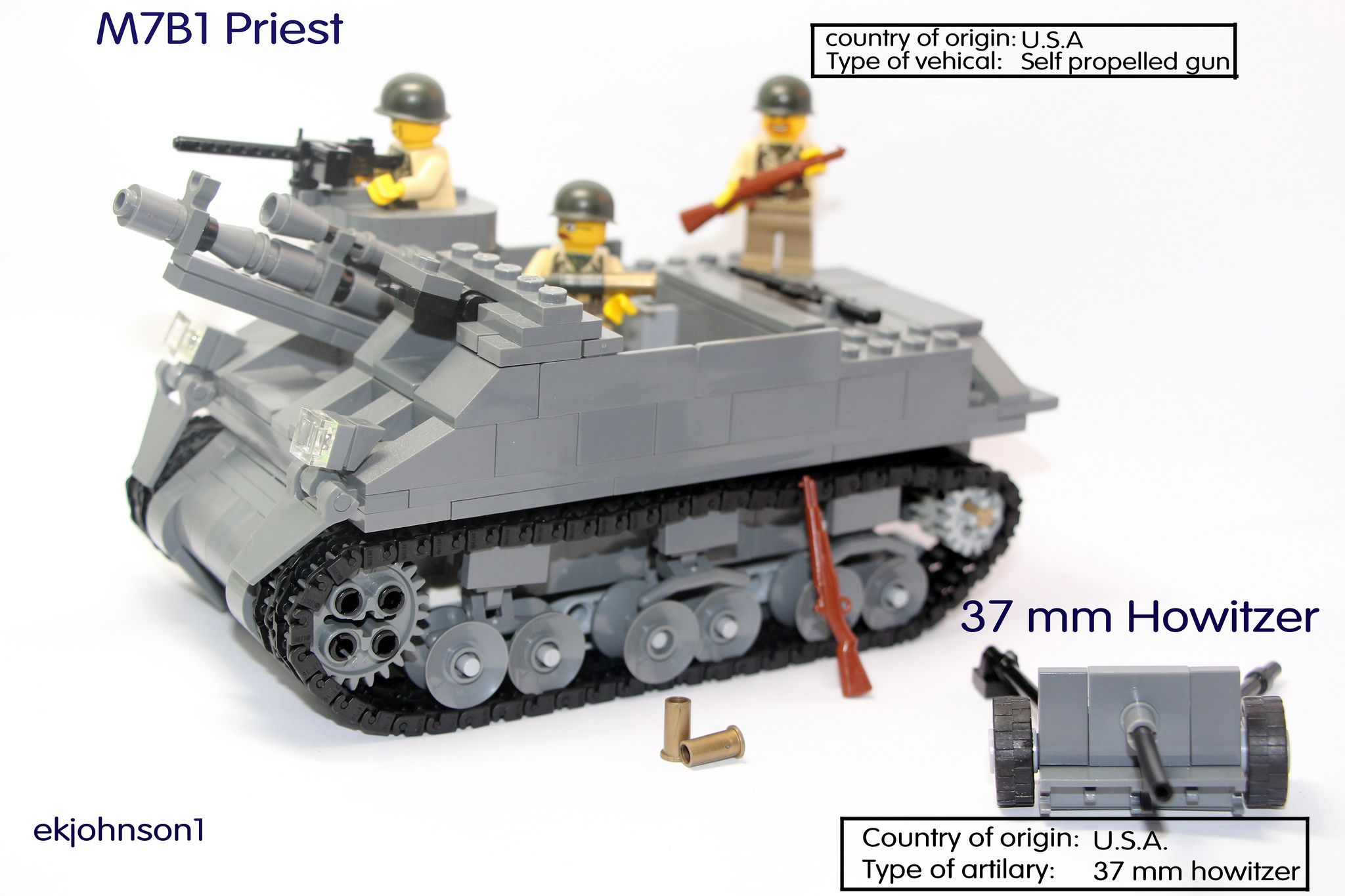 M7B1 Priest and 37 mm Howitzer | The priest is almost the sa… | Flickr