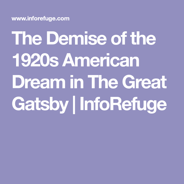 american dream theme in great gatsby