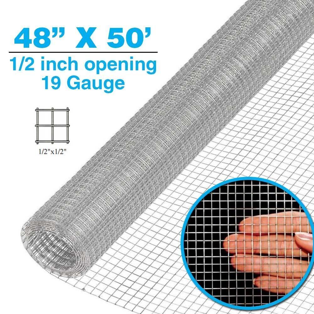 1/2 inch 19 gauge Hardware Cloth Galvanized Cage Wire Mesh Chicken ...