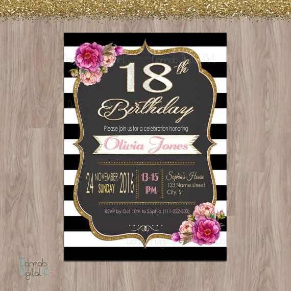 18th Birthday Invitations Party By DamabDigital