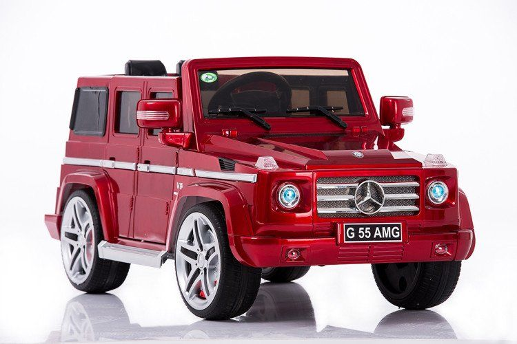 Mercedes Benz Remote Control Electric Ride On G55 Amg G Wagon For Kids W Rubber Tires And Opening Doors