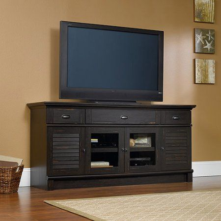 Free Shipping Buy Sauder Harbor View Tv Stand For Tvs Up To 70 Quot Antique Paint At Walmart Com Tv Stand 70 Inch Tv Stand Entertainment Credenza