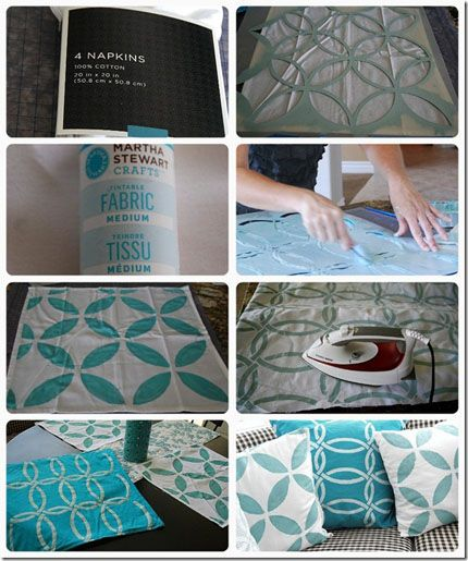 """A """"how to"""" for stenciling on fabric. Also tutorial at:  http://tatertotsandjello.com/2013/03/how-to-stencil-on-fabric-and-a-royal-design-stencil-giveaway.html"""