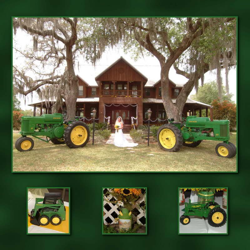 John Deere and a beautiful bride, what more could any man want?