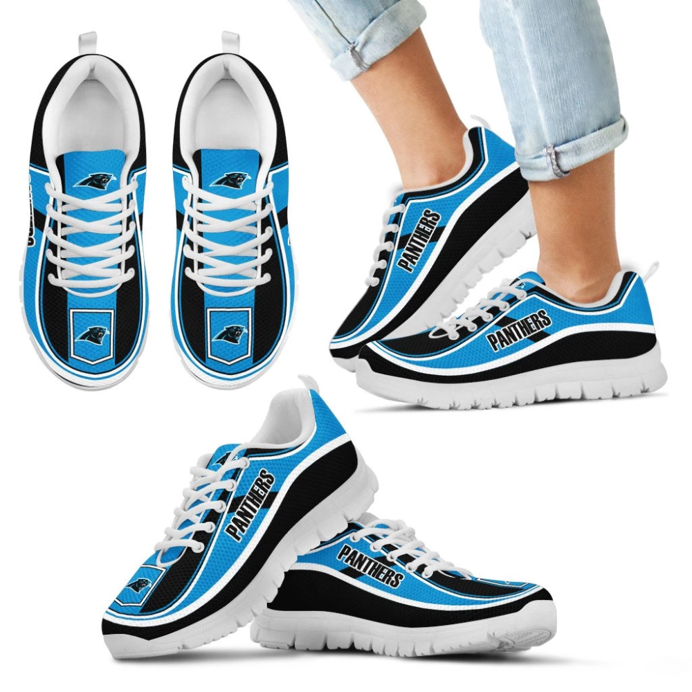 Simple Color Flag Carolina Panthers Sneakers Sneakers Carolina Panthers Detroit Lions