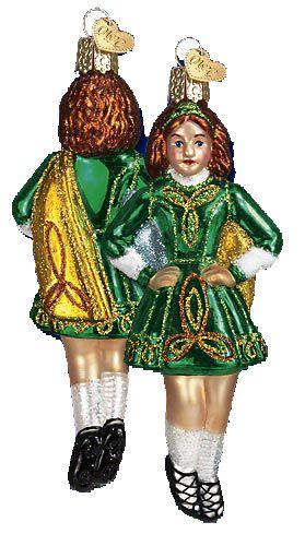 Celtic Dancer Glass Ornament Old World Christmas Pinterest