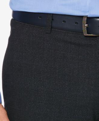 Perry Ellis Portfolio Men S Slim Fit Performance Stretch Glen Plaid Dress Pants Blue 36x32 Plaid Dress Pants Slim Fit Men Glen Plaid