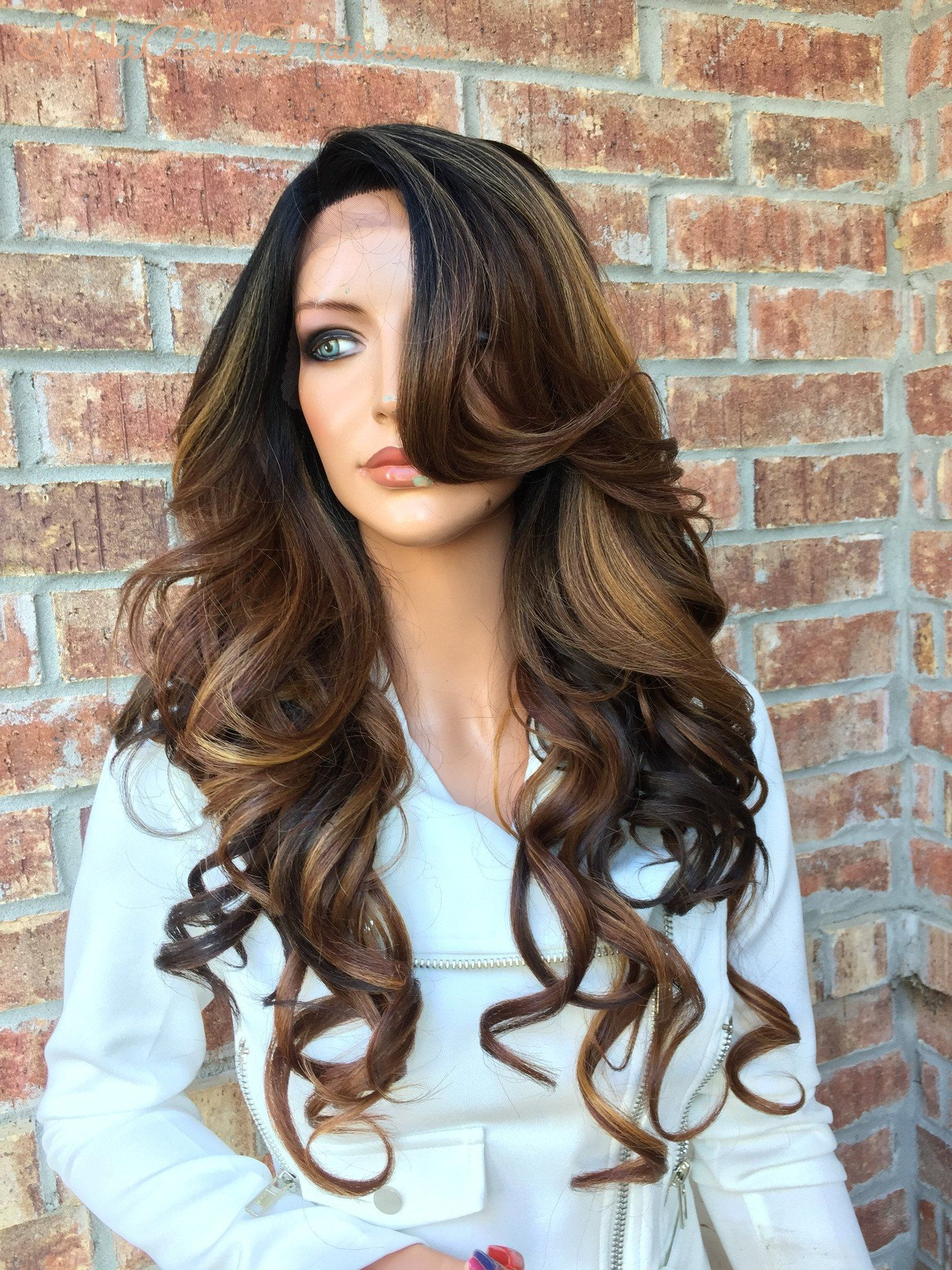 mia dark brown blond lace front
