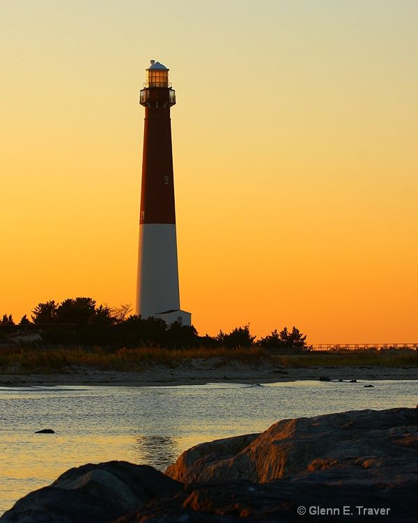 barnegat Lighthouse at Sunset - Barnegat Lighthouse State Park