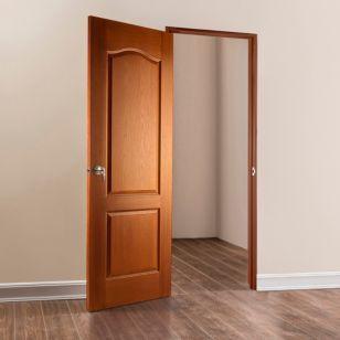 Puerta prestige cedro 70 cm puertas for Puertas correderas sodimac