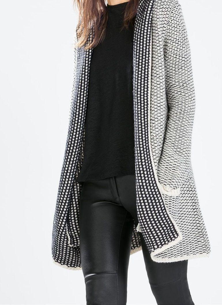 b2792f42033298 Zara Jacke - Cardigan   Fashion   Jacken, Strickjacke mit kapuze und ...