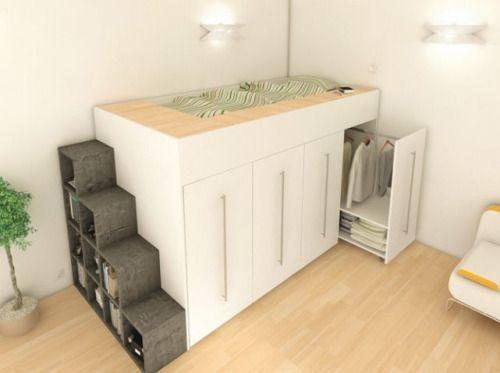 15 Examples Of The Super Cool Loft Bed For Grownups Teenager Hochbetten Niedrige Hochbetten Ideen Fur Kleine Schlafzimmer