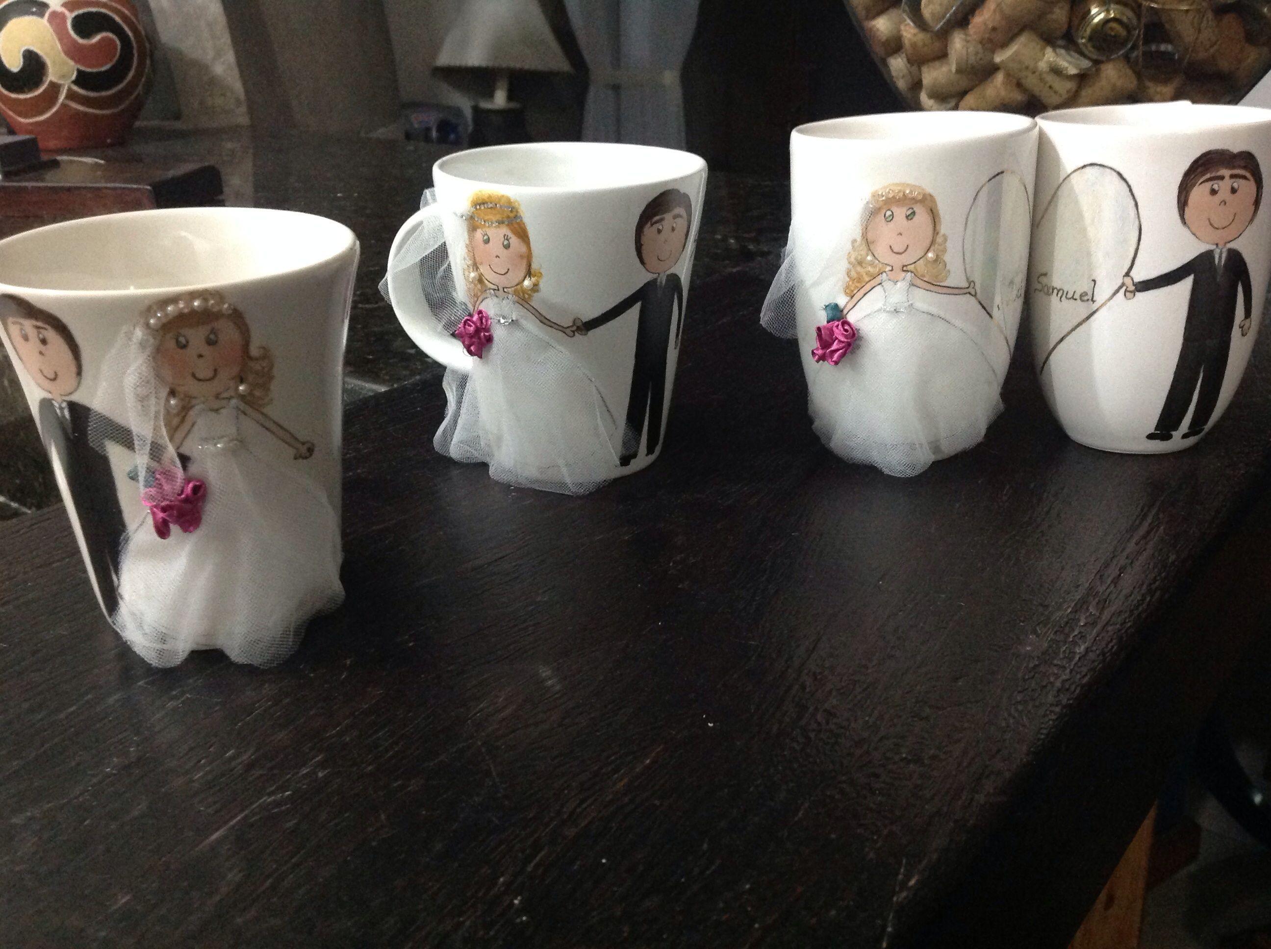 Canecas personalizadas pintadas e decoradas a mão. Porcelana e Arte Eventos