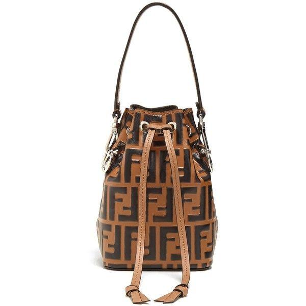 7c3f131bba73 Fendi My Treasure logo-embossed leather bucket bag ( 1