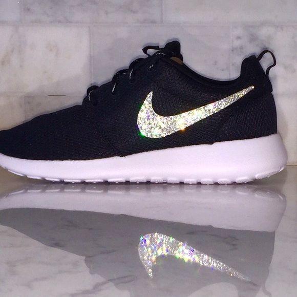 Bling Nike Roshe Swarovski Brand new in original box!! Bling 100% Genuine Swarovski  Crystal Nike Roshe Run. Custom Made Nike. Each pair of shoes has  45 ... e118943b08