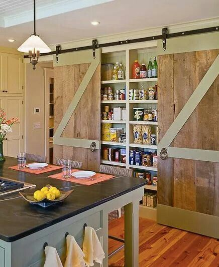 Set pantry/spice rack between studs and hand sliders...hmmm