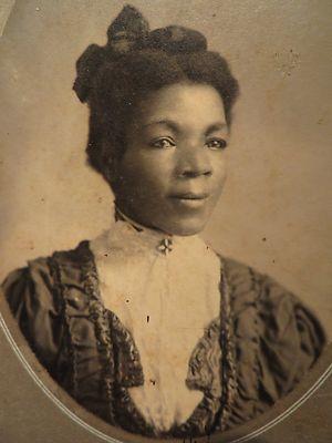 C 1900 Cabinet Photo Beautiful Black African American Woman Grand Bend KS | eBay