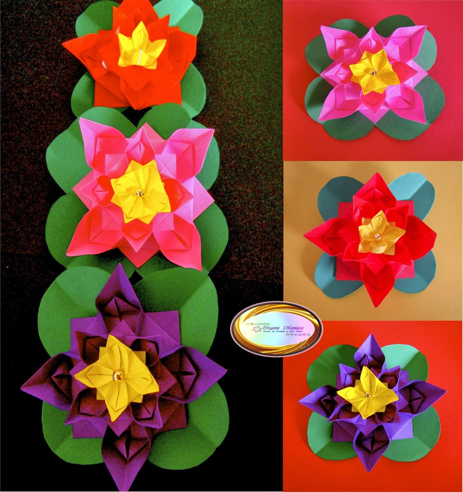 Origami maniacs cute origami flower how to doorigami origami maniacs cute origami flower mightylinksfo