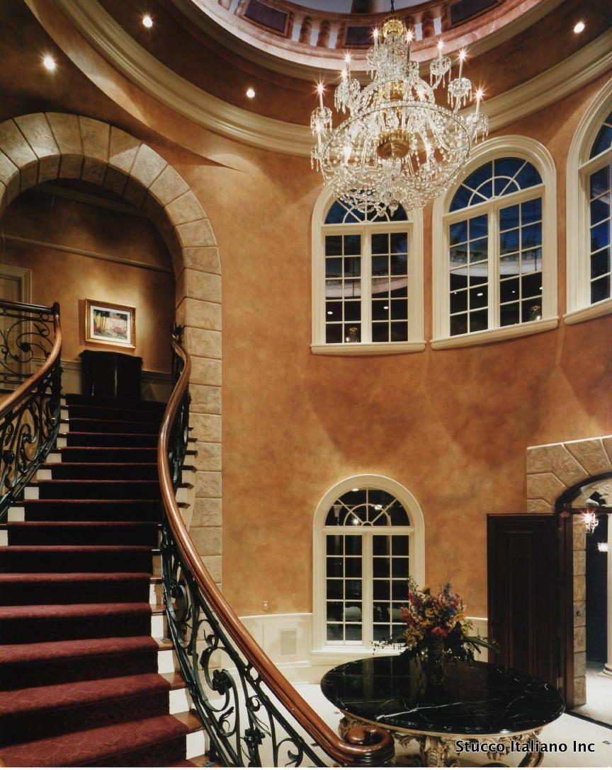 Nice Interior, Inspiring Marvelous Italian Villa Interior Design Creativity:  Amazing Chandelier And Stairway In Brown