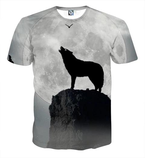 Deer Hunting  Full Moon Tee Cool t/'shirt Black