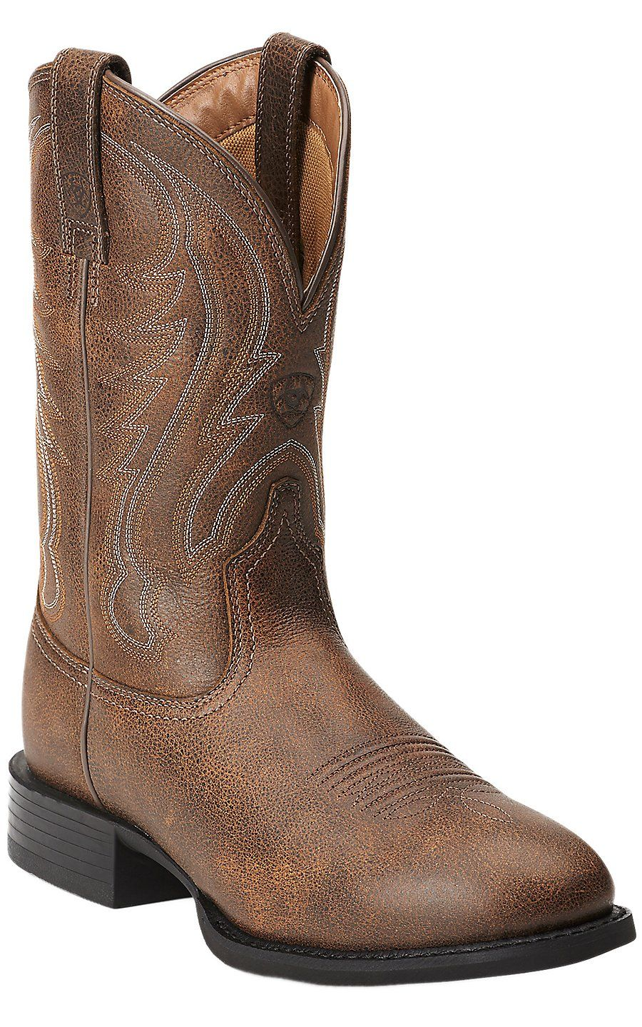 ac8e89f7a34 Ariat Sport Men's Vintage Bomber Brown Round Toe Western Cowboy Boot ...