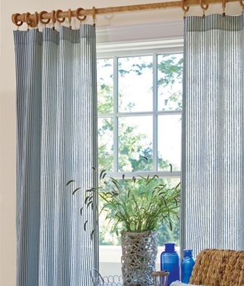 Ticking Stripes Curtains For A Nautical Look