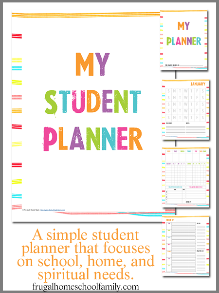 Stupendous image within printable weekly planner for students