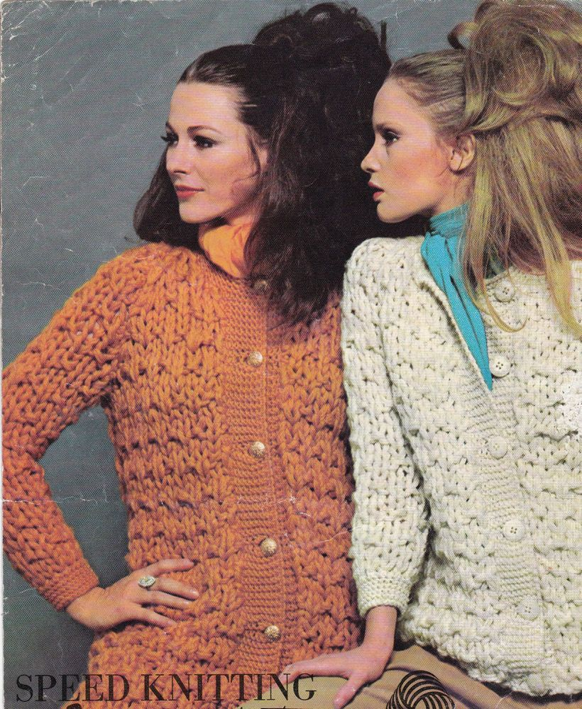 Vintage Knitting Pattern Instructions For Ladies Speed Knit Jacket