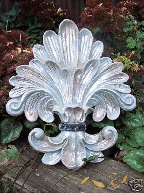 Plastic corner fleur de lis plaque mold plaster concrete mould