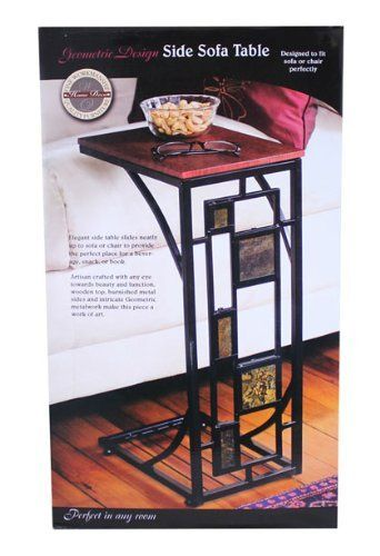 Geometric Design Side Sofa Table Check This Awesome Product By Going To The Link At The Image Note It Is Geometric Side Table Sofa Table Modern Sofa Table