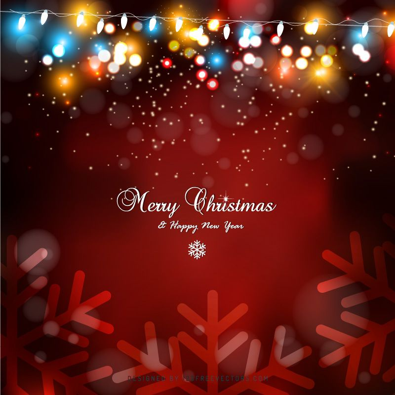 Red Christmas Lights Background Design Free Vectors Christmas