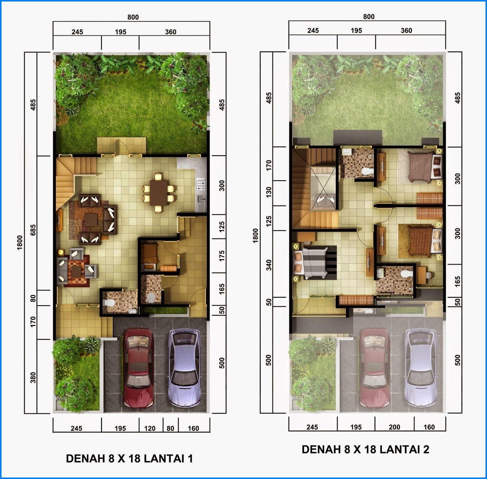 Denah Rumah Minimalis  Lantai Sederhana