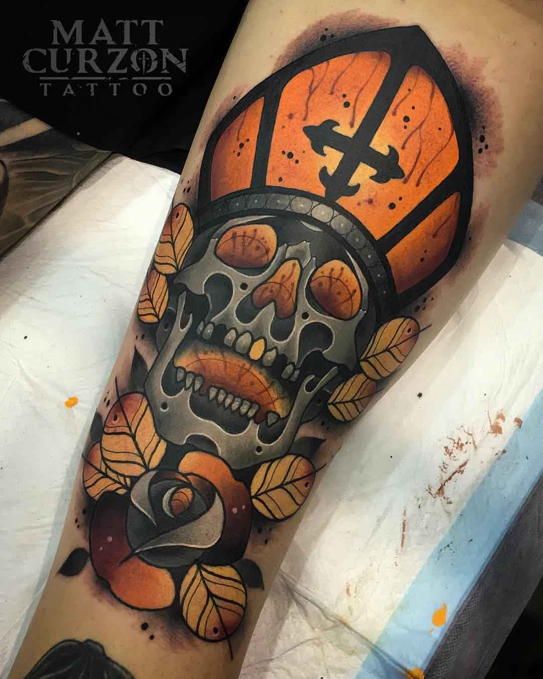 holy skull tattoo neo traditional style neo traditional pinterest neo traditional. Black Bedroom Furniture Sets. Home Design Ideas