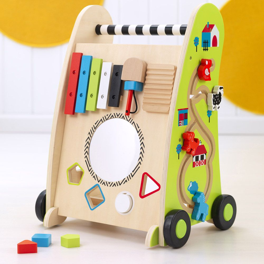 This Push Along Play Cart Is A Perfect Educational Toy For