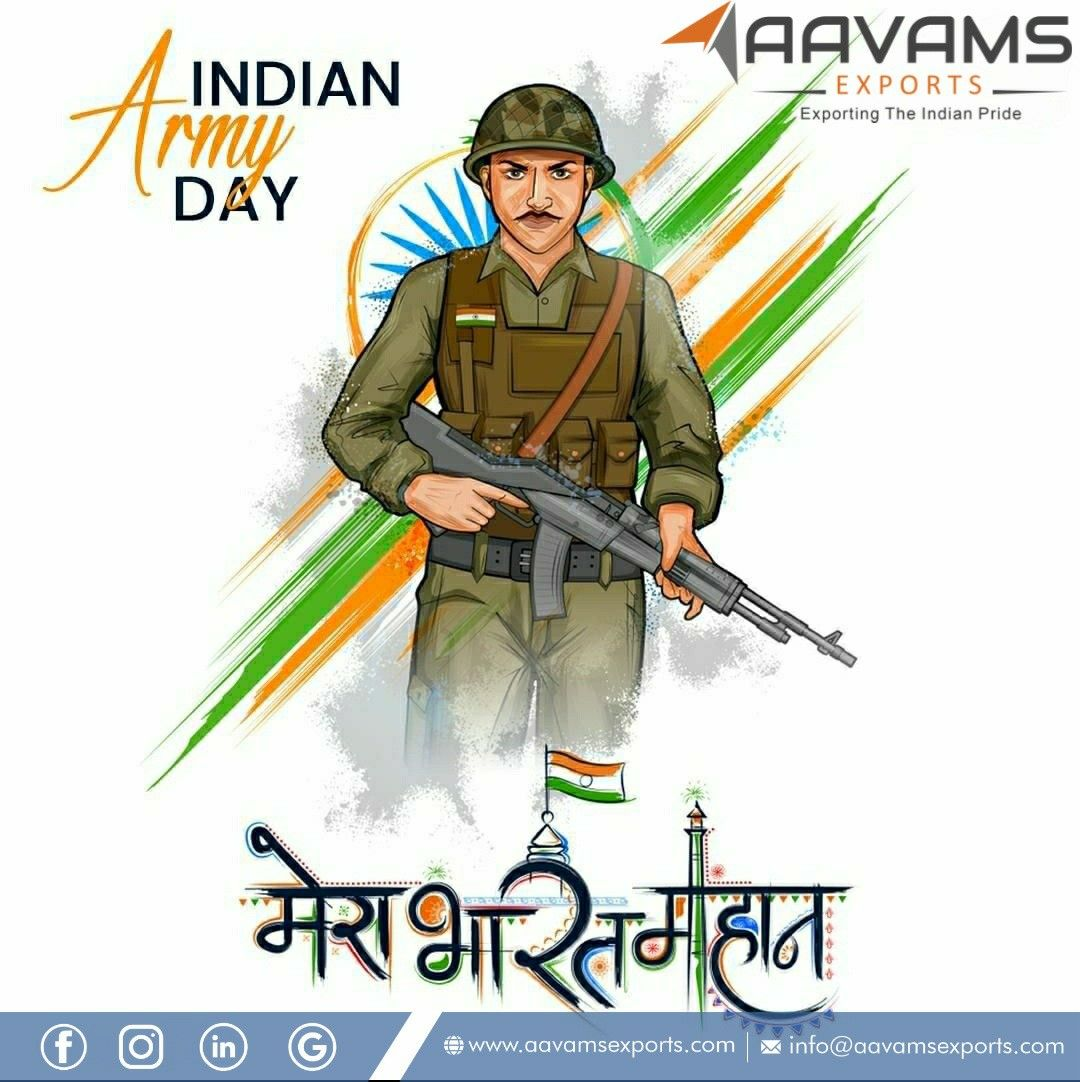 Happy Indian Army Day In 2021 Indian Army Republic Day Army Day 26 january 2021 indian army image