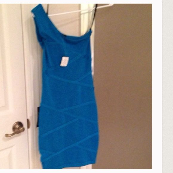 BEBE brand new with tags One should gorgeous blue dress. bebe Dresses One Shoulder