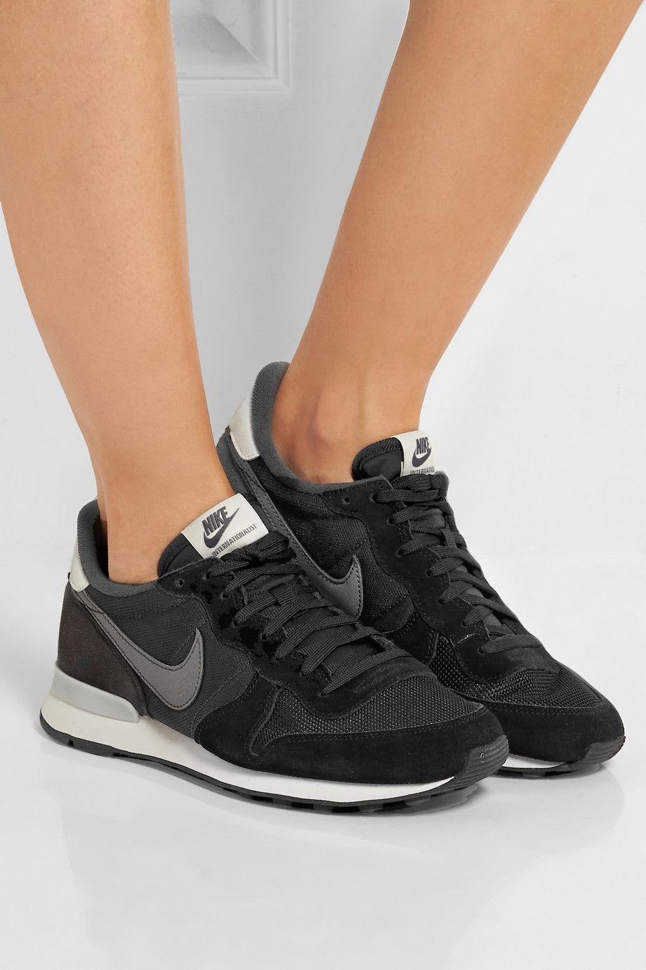 cheap for discount 8a262 5f1bd Nike  Internationalist suede, leather and mesh sneakers  NET-A-PORTER.COM