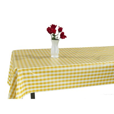 Berrnour Home Essential Vinyl Checkered Design Indoor/Outdoor Tablecloth Size: