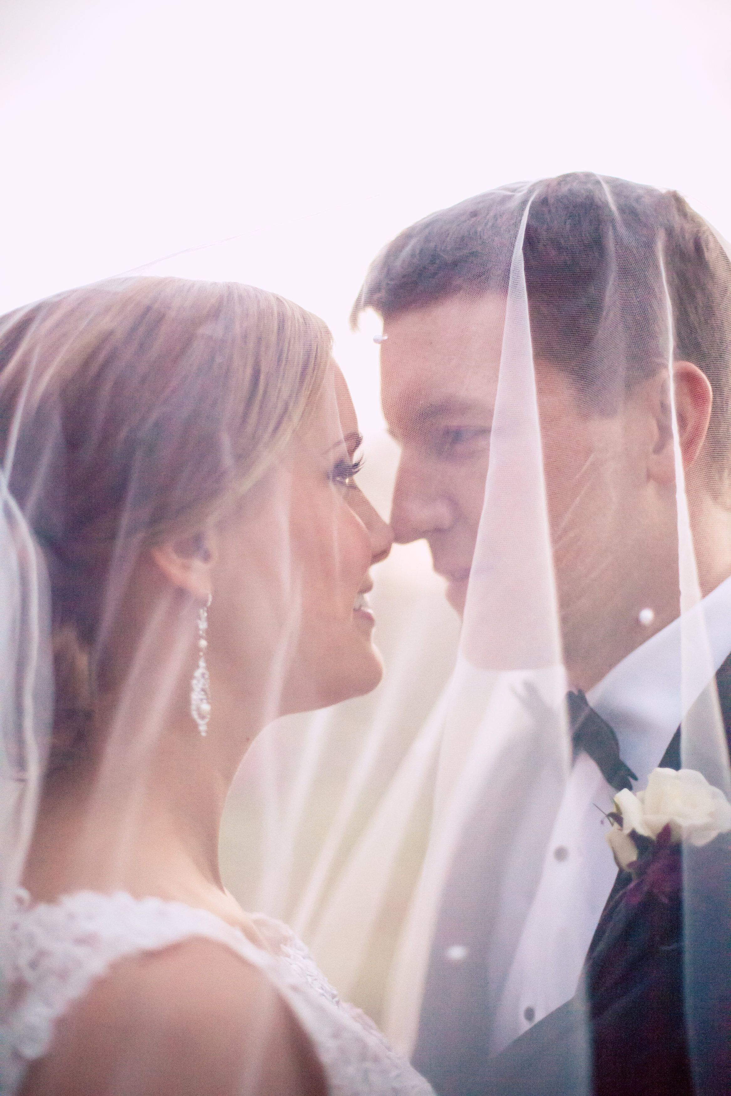 The Gorgeous Couple Under Wedding Veil Sydney Tylers Exquisite Fall