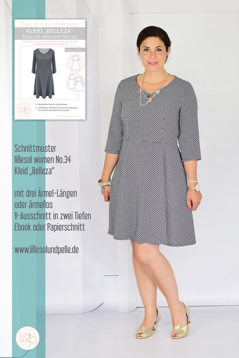 Freebook kleid damen webware