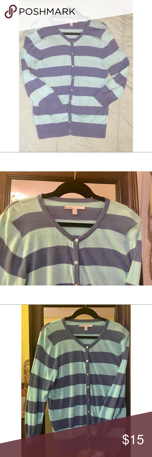 Old Navy Size L Striped Sweater Super cozy striped sweater from ...