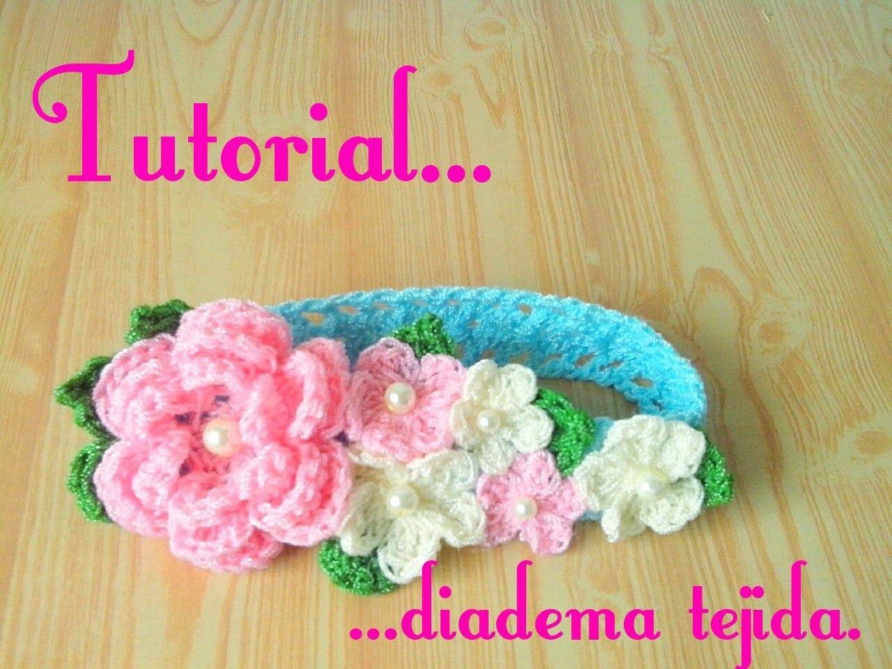 Crochet diadema tejida para bebe crochet crocheted - Diademas a crochet ...