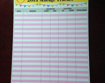 Custom Mileage Tracker Sticker  Cut To Fit Erin Condren Planners