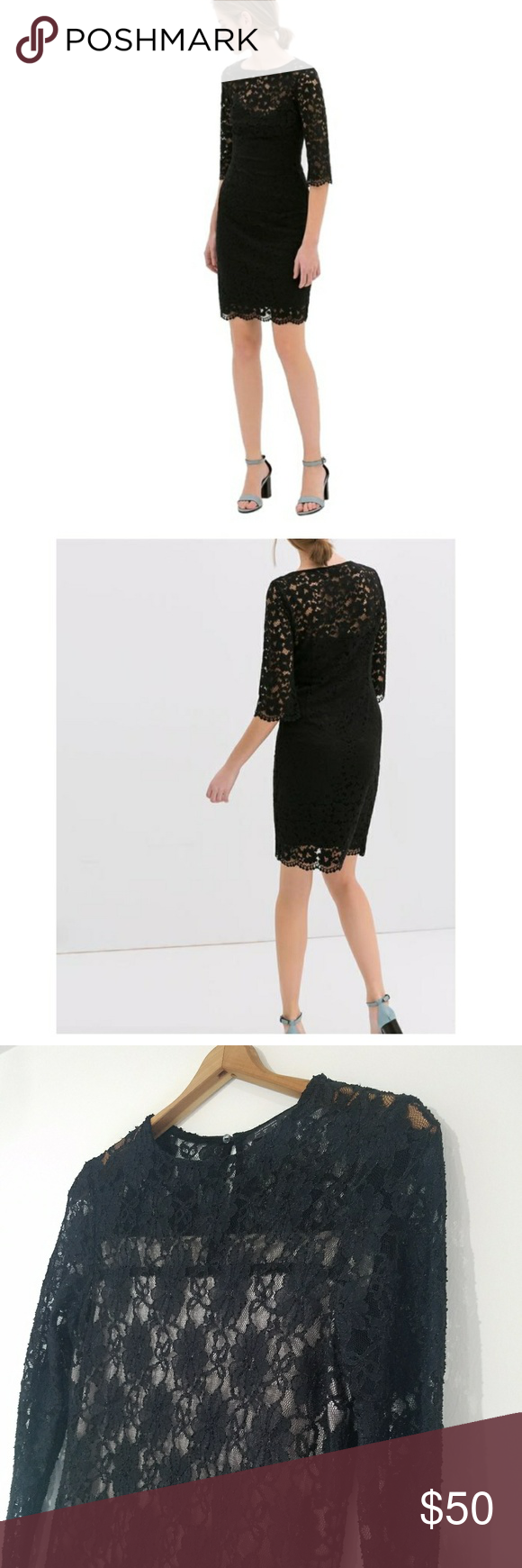 Zara black lace dress sexy lace dress by zara long sleeve black