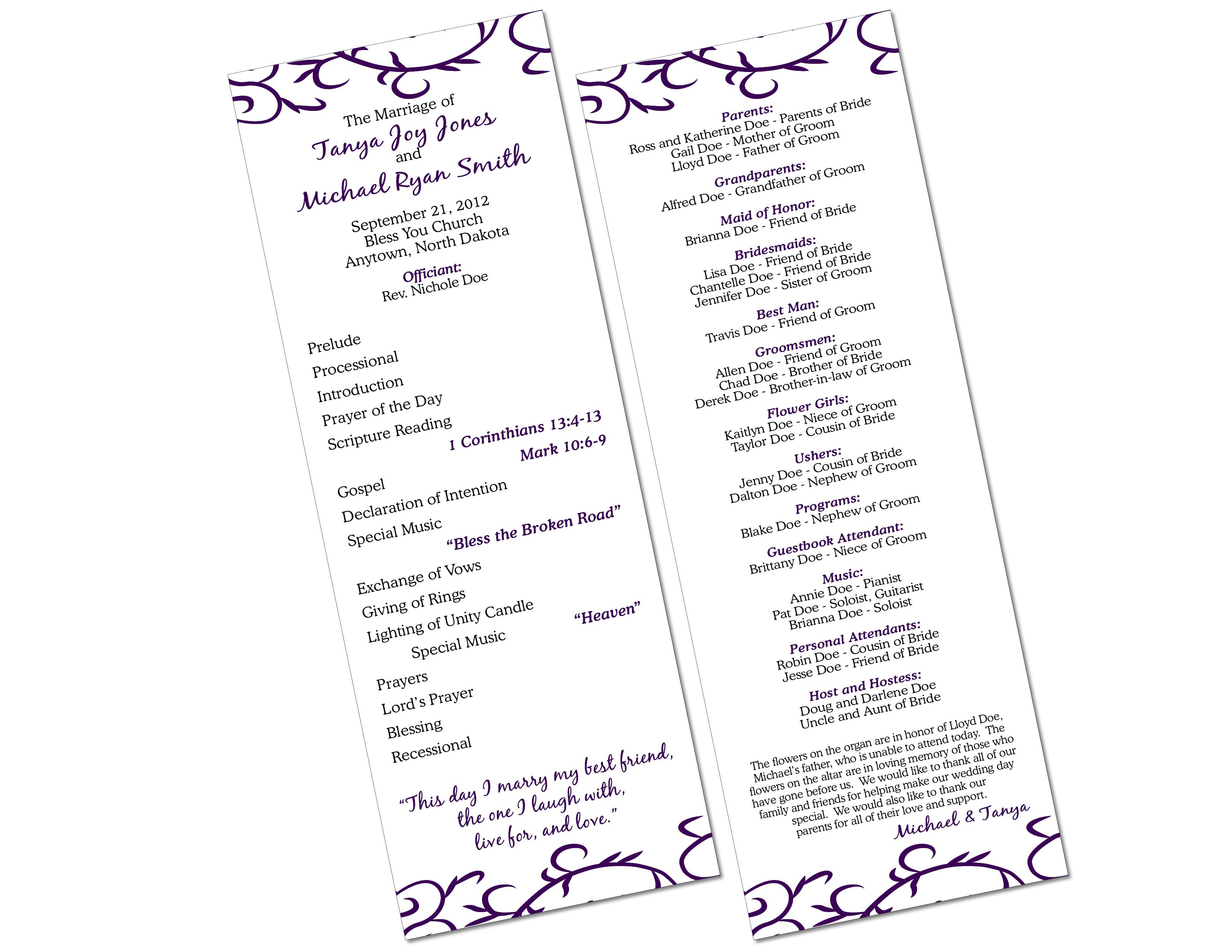 Free Diy Catholic Wedding Program Ai Template I M A Professional Graphic Designer And Catholic Wedding Program Diy Wedding Programs Wedding Programs Template